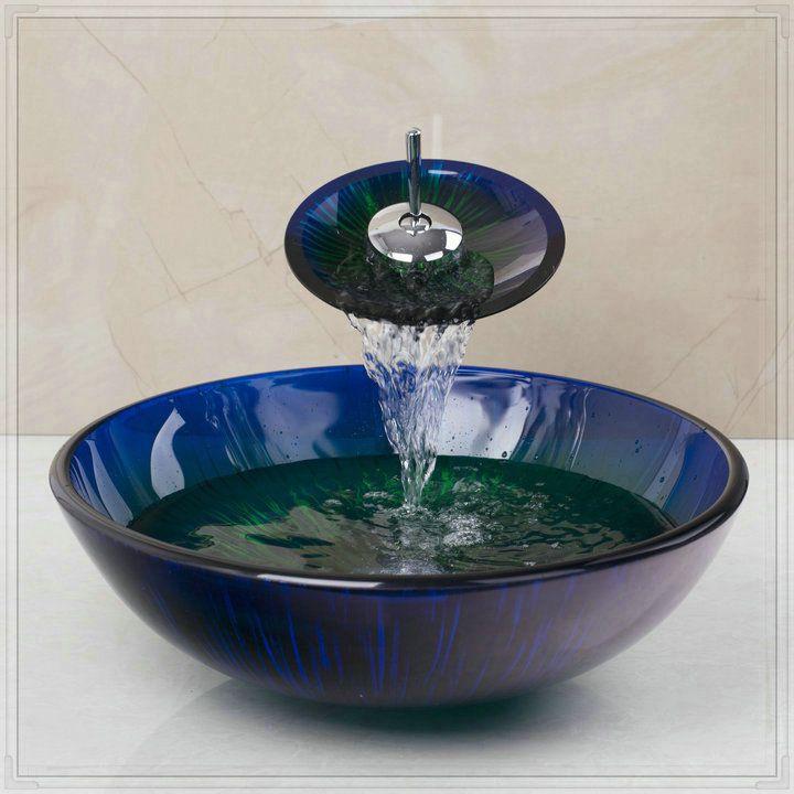 Дешевое Ванная красочные чаша круглый ванна бассейна и ванна светильники закаленное стеклянный сосуд раковина умывальники NA620 бронзовый водопад кран, Купить Качество Запчасти для ванных непосредственно из китайских фирмах-поставщиках:            &