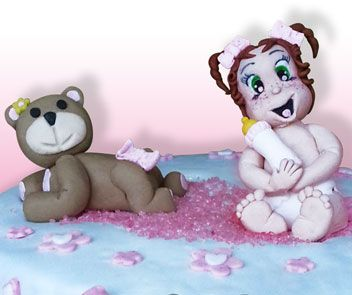 Baby and bear cake