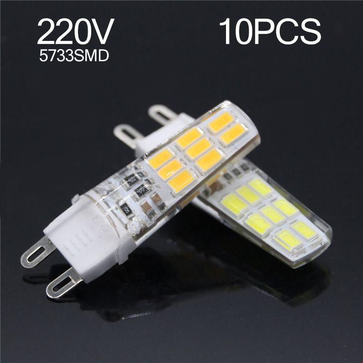 10PCS G9 Bombillas LED Lamp 220V 3W 5733 SMD 16LEDs Spotlight Lampada De LED Light Bulbs Replace Halogen Spotlight Chandelier #Affiliate