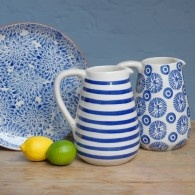 Blue Patterned Jugs from Jules china in Hebden Bridge