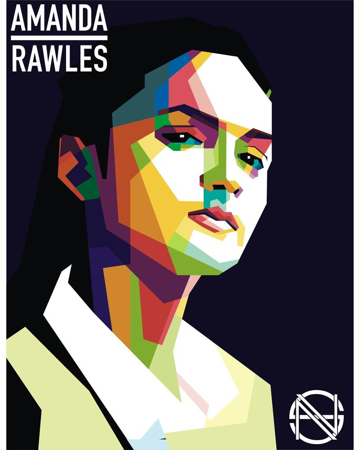 Amanda Rawles in WPAP art of Indonesia