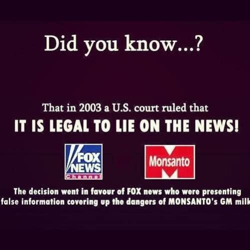 Faux News - This is why fox news can not get a license to air in Canada, because there you must tell the truth if you run a news organization.