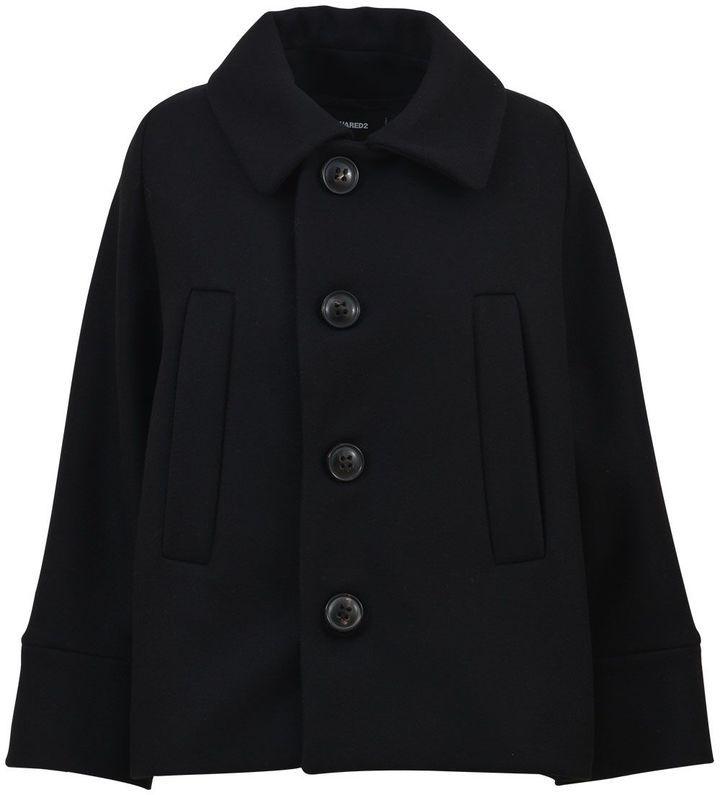 DSQUARED2 Black Short Coat