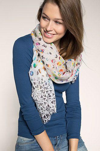EDC / woven polka dot scarf