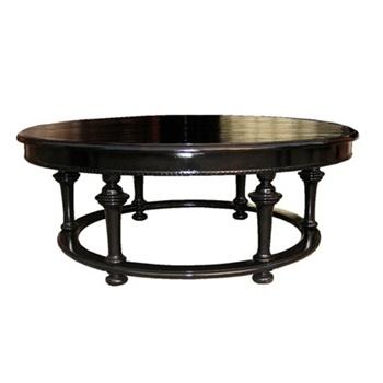 Roma Round Black Coffee Table