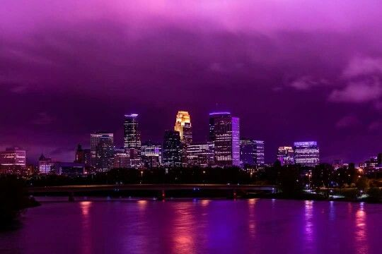 The sky above minneapolis the day Prince died.