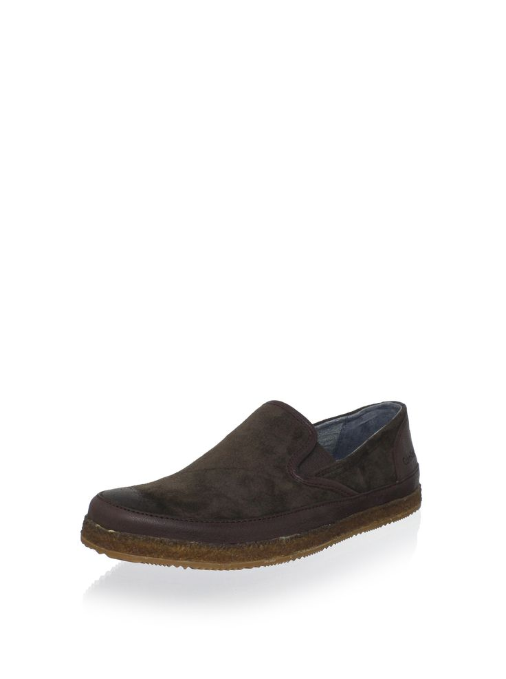Calvin Klein Jeans Men's Isaiah Slip-On (Brown) This stylish slip-on features a burnished toe, a crepe midsole and a gored entry for easy on and off Men #Shoes