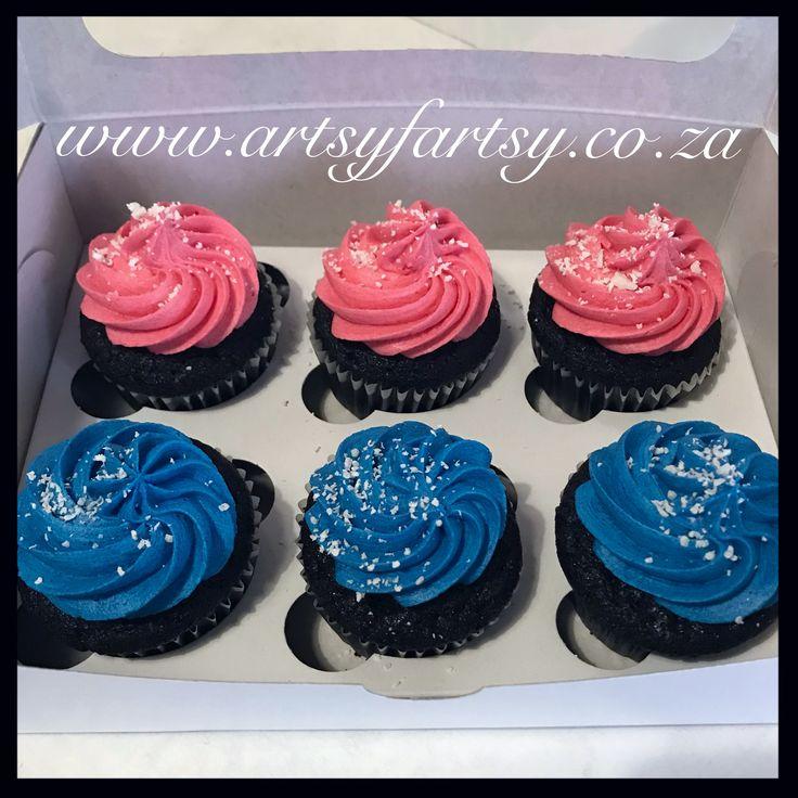 Pink and Blue Cupcakes #pinkandbluecupcakes