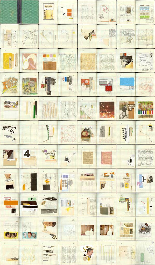 visual journal; random notes, pictures, ideas etc.