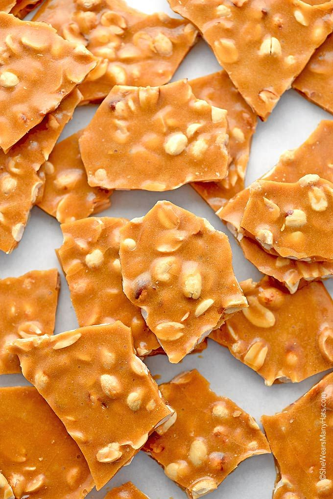 Peanut Brittle Recipe - A favorite treat made with simple ingredients and cooks in about 15 minutes. It's the perfect edible gift during the holidays.