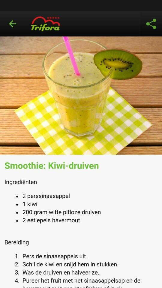 Smoothie: kiwi-druiven