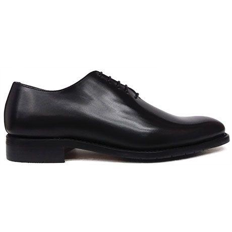 8567 zapato oxford enterizo de pala lisa en piel color negro de Ashcroft   Calzados Garrido