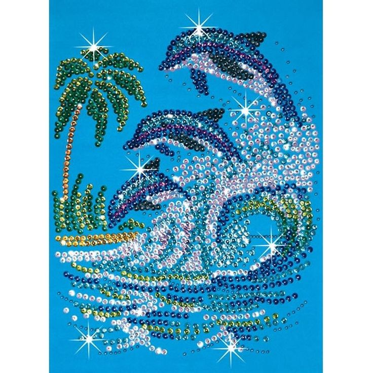 dolphin craft with pine cones | Ksg Sequin Art And Beads Dolphins | Hobbycraft
