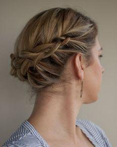 Short hair updo for braids.  Repin by Inweddingdress.com  #weddinghair