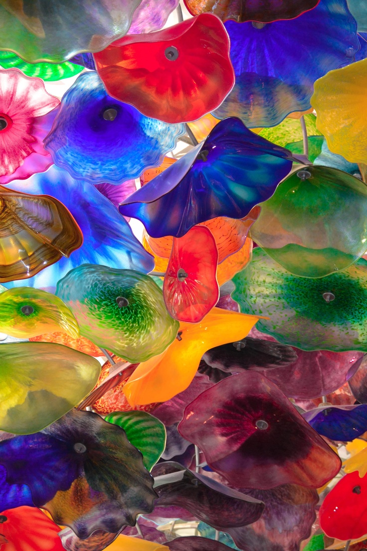 The Chihuly glass cieling at The Bellagio Hotel, Las Vegas
