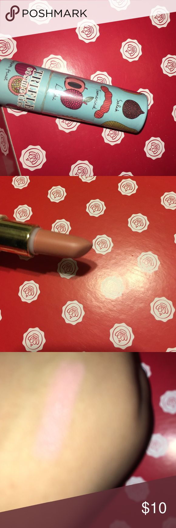 Trifle Cosmetics Exotic Fruit Creamy Lipstick Brand new, used once for swatch. Full Size Trifle Cosmetics Makeup Lipstick