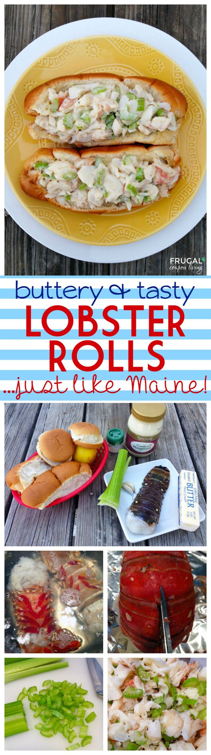Buttery and Tasty Homemade Lobster Rolls on Frugal Coupon Living - the recipe is just like when I took a trip to Maine!