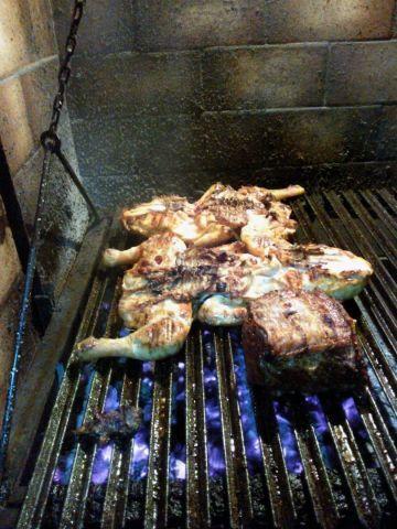 Pollo a la parrilla estilo argentino