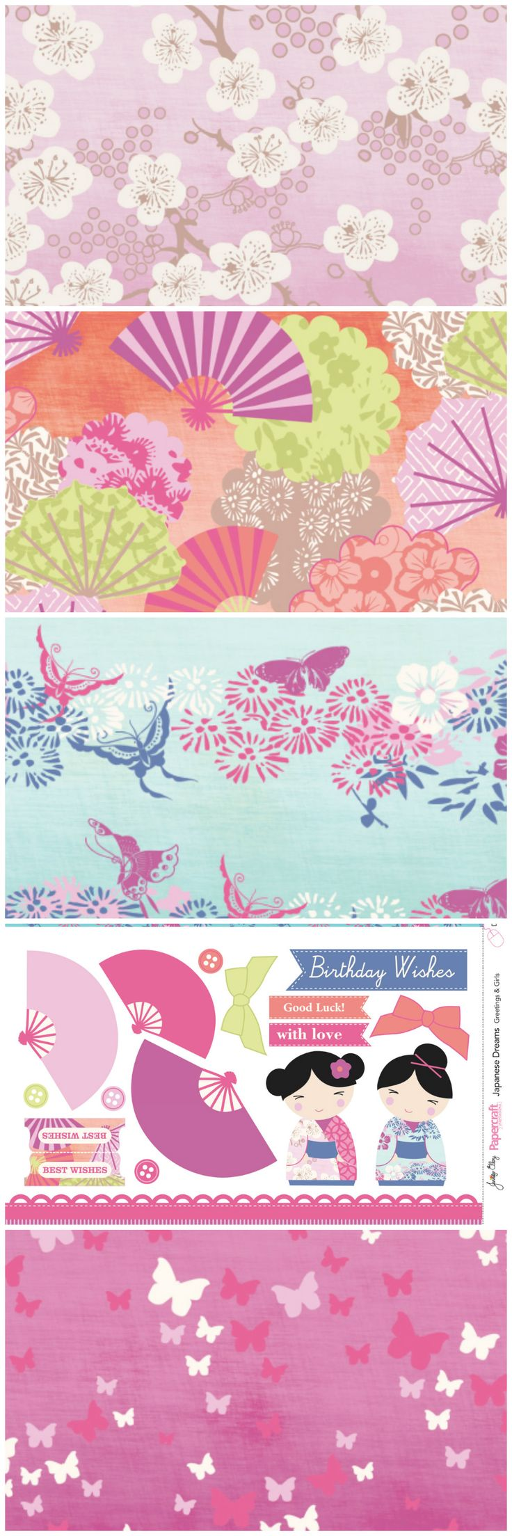 Find some Eastern inspiration with our gorgeous Japanese Dreams FREE digital papers! Think how gorgeous they'd look on your cards and scrapbooks!