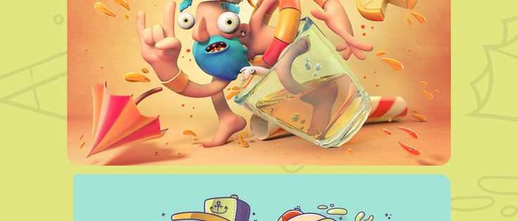 Collaboration between Fer Aguilera Reyes and Gabo Mr. Lemonade. The original drawing was made by Gabo and the 3D by Fer Aguilera.