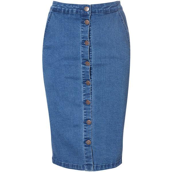 Best 20  High Waisted Denim Skirt ideas on Pinterest | Jean skirt ...