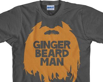 Redhead Shirt Ginger Beard T shirt ginger beard man by UnicornTees