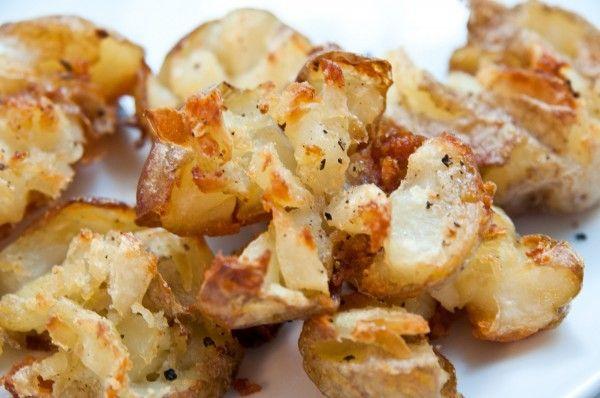 Garlic Crashed Potatoes