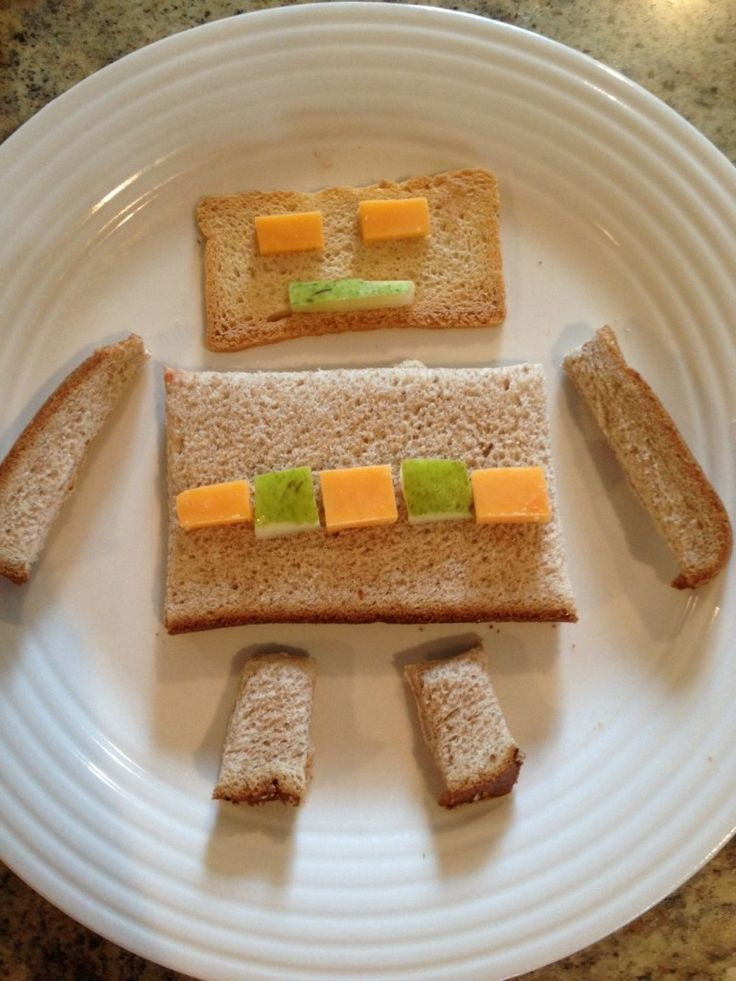 A fun way of Teaching Kids Shapes. Learning shapes is easy and fun when it is also a healthy snack for kids! Love the circle snack idea, and the digger!