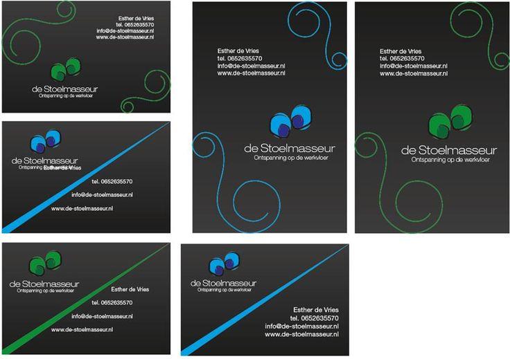 #visitekaartje stoelmasseur #logo #made by #kennyderidder