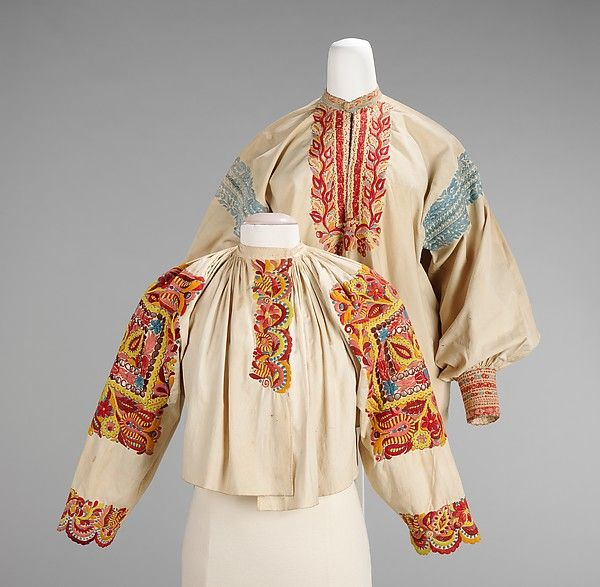 Blouse, Culture: Slovak/around Piestany     Date: fourth quarter 19th century  Medium: cotton