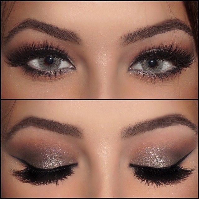 Eye makeup for gray hair