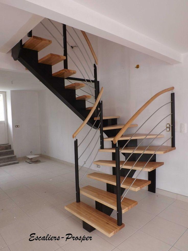 Escalier on Pinterest  Escalier design, Limon d escalier and Plancher ~ Escalier Helicoidal Bois Metal