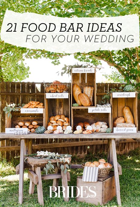 Best 25 rustic food display ideas on pinterest food for Food bars for weddings