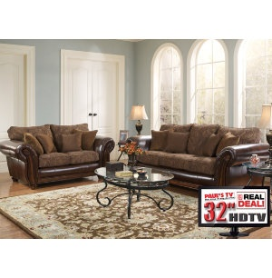 piece living room package with tv monica collection
