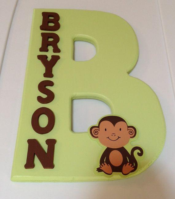 Custom nursery decor -Bryson- Monkey Nusery - Jungle Nursery