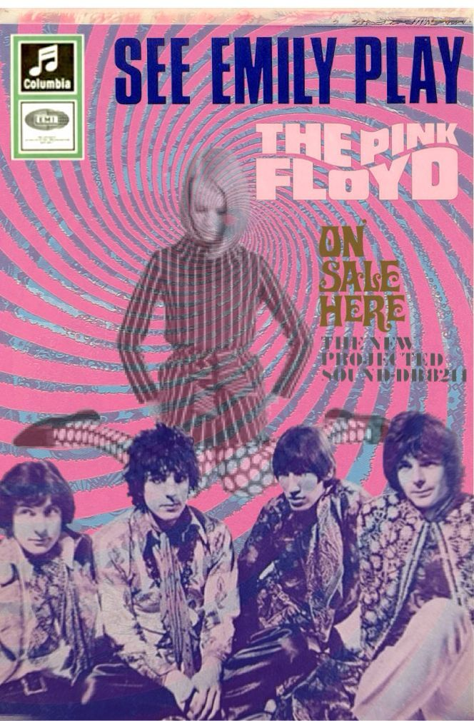 DIAGONALS : Photo Columbia records ad See Emily Play The Pink Floyd