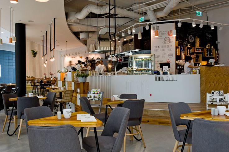 Bistro style café Mlska inspired by French cuisine.