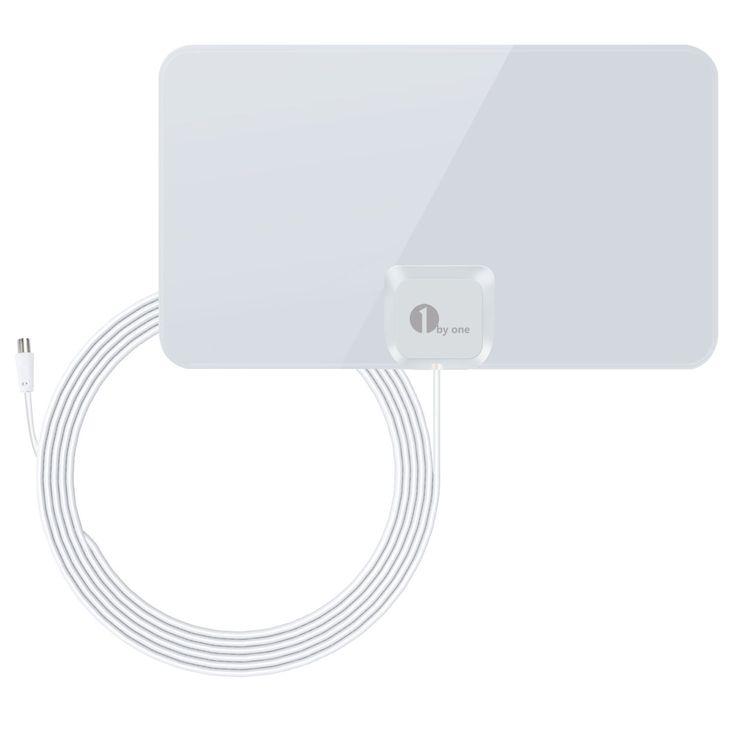 Superisparmio's Post Antenna TV Digitale  1byone Antenna interna per TV DTT e DVB-T 40 km di ricezione 4 m di cavo coassiale Bianco Brillante  Oggi a solo 12.74   http://amzn.to/2fXz9D4