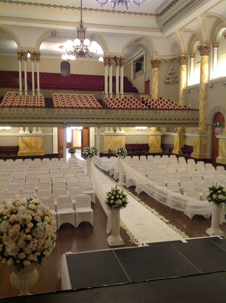 Wedding Ceremony Decorations Adelaide : Town hall ceremony decorations wedding ceremonies forward adelaide