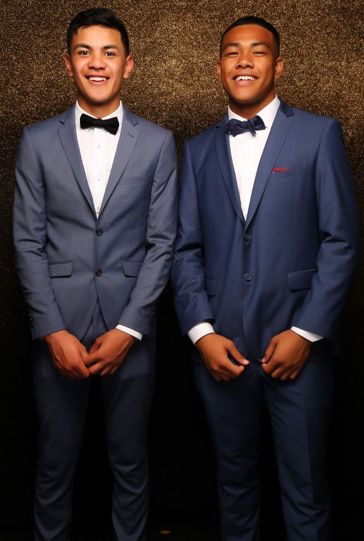 St Peter's Ball 2015. You cant beat a sleek blue suit!  www.whitedoor.co.nz
