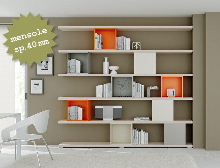 #Living #libreria. www.moretticompact.com