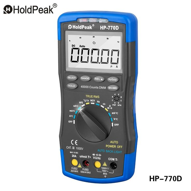61.5$  Watch here - HoldPeak HP-770D Multimetro Digital Multimeter Auto Range True RMS Frequency/ Temperature Tester and Carry Bag   #magazineonlinewebsite