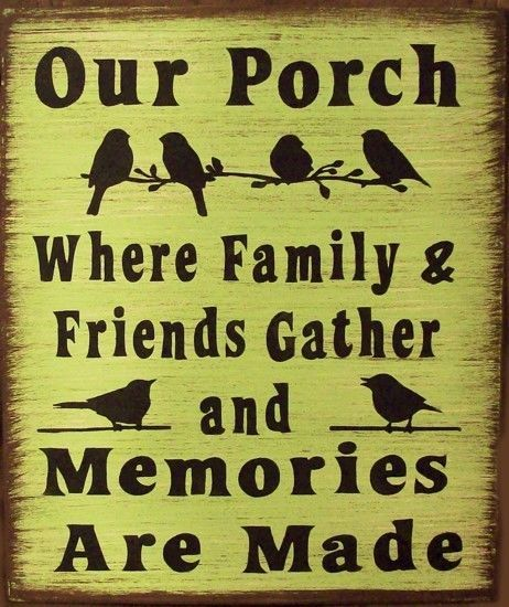 Our Porch With Birds Primitive Country Rustic Sign Home Decor wall  #Handmade #rustic252primitive