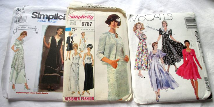 Vintage Patterns, Simplicity 8474, Simplicity 6787, McCalls 6347, Jane Mohr Designs, 1966 two piece suit pattern, wedding dress pattern by MyGrandmothersHouse on Etsy