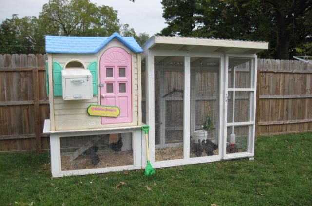 You know that abandoned playhouse sitting in your backyard that your kids have grown out of? Clean it up, attach hardwire cloth to any openings, and build a base to transform it into a coop your chickens will love. Get the tutorial at Backyard Chickens.