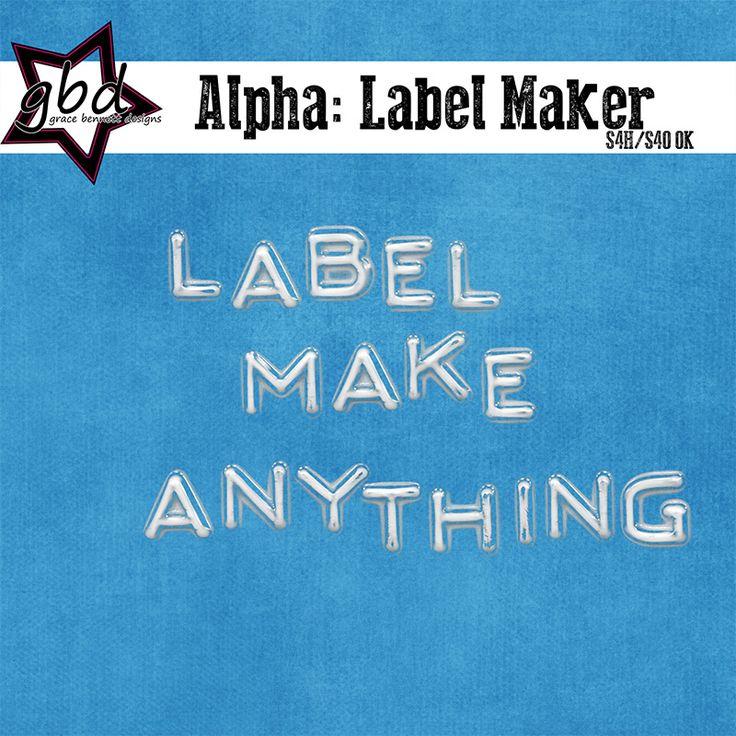 Alpha: Label Maker :: Alpha's & Fonts :: Memory Scraps