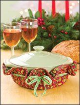 E-pattern Christmas Casserole Caddies
