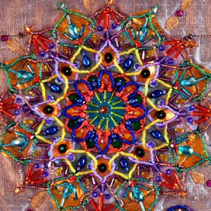 I beaded embroidery mandalas bead creative by