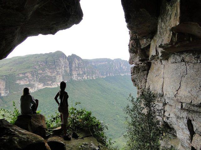 A escalada, além de permitir um contato maior com a natureza, proporciona vistas deslumbrantes. Foto Chapada Diamantina.