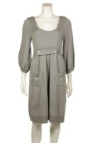 Laundry by Design Women's Light Heather Gray Merino Wool Sweater Dress, Large